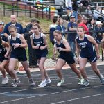 Girls Varsity Track finishes 2nd place at Home Meet