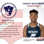 Boys Varsity Track Names Athlete of the Week for Week of March 11th!