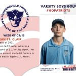 Boys Varsity Golf Names Athlete of the Week for Week of March 18th!