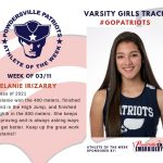Varsity Girls Track Names Athlete of the Week for Week of March 11th!