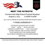 Come out and MEET THE PATRIOTS this Friday!