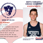 Boys Varsity Cross Country Names Athlete of the Week!