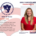 Girls Varsity Golf Names Athlete of the Week!