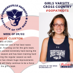 Girls Varsity Cross Country Names Athlete of the Week!