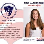 Girls Varsity Tennis Names Athlete of the Week!