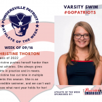 Varsity Swim Names Athlete of the Week!