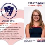 Varsity Swim Names Athlete of the Week!