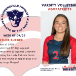Varsity Volleyball Names Athlete of the Week!