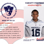 Varsity Football Names Athlete of the Week!
