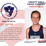 Varsity Girls Cross Country Names Athlete of the Week!