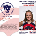 Varsity Competition Cheer Names Athlete of the Week!