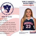 Girls Varsity Basketball Names Athlete of the Week!