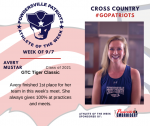 Patriots Cross Country announces Athlete of the Week September 7th