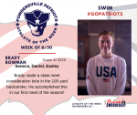 Patriot Swim announces Athlete of the Week of August 30