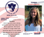 Patriots Tennis announces Athlete of the Week September 14th