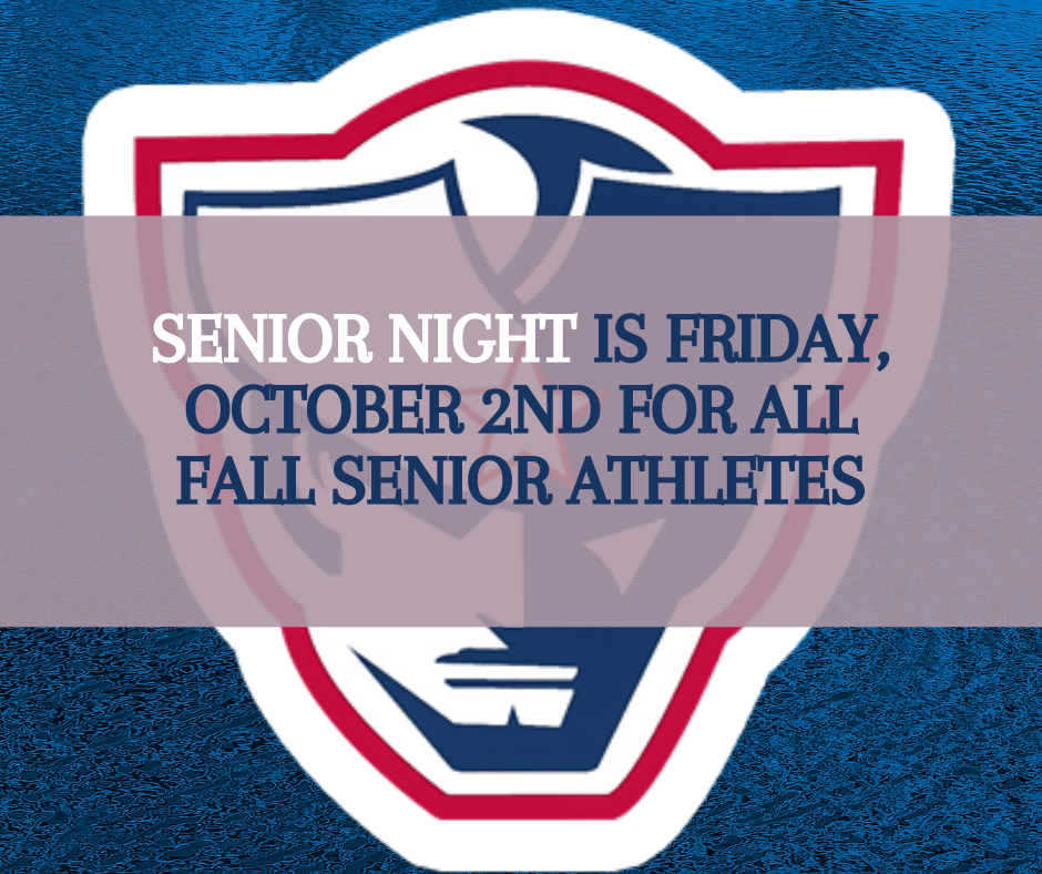 Announcing Senior Night for Fall Athletes!