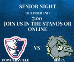 Senior Night is Tonight at 7:00