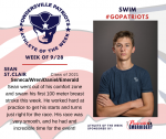 Patriots Swim announces Athlete of the Week September 28th