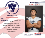 Patriots Football announces Athlete of the Week September 28th