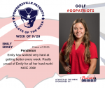Patriots Girls Golf announces Athlete of the Week September 28th