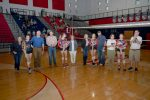 Varsity Volleyball Celebrates Their Seniors in a Win Over Easley