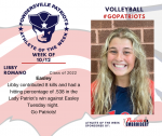 Patriots Volleyball announces Athlete of the Week October 12th
