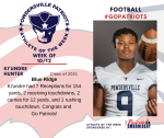 Patriots Football announces Athlete of the Week October 12th