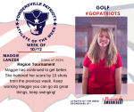Patriots Golf announces Athlete of the Week October 12th