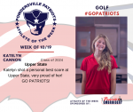 Patriots Golf announces Athlete of the Week October 19th