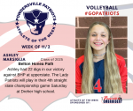 Patriots Volleyball announces Athlete of the Week November 2nd