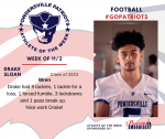 Patriots Football announces Athlete of the Week November 2nd