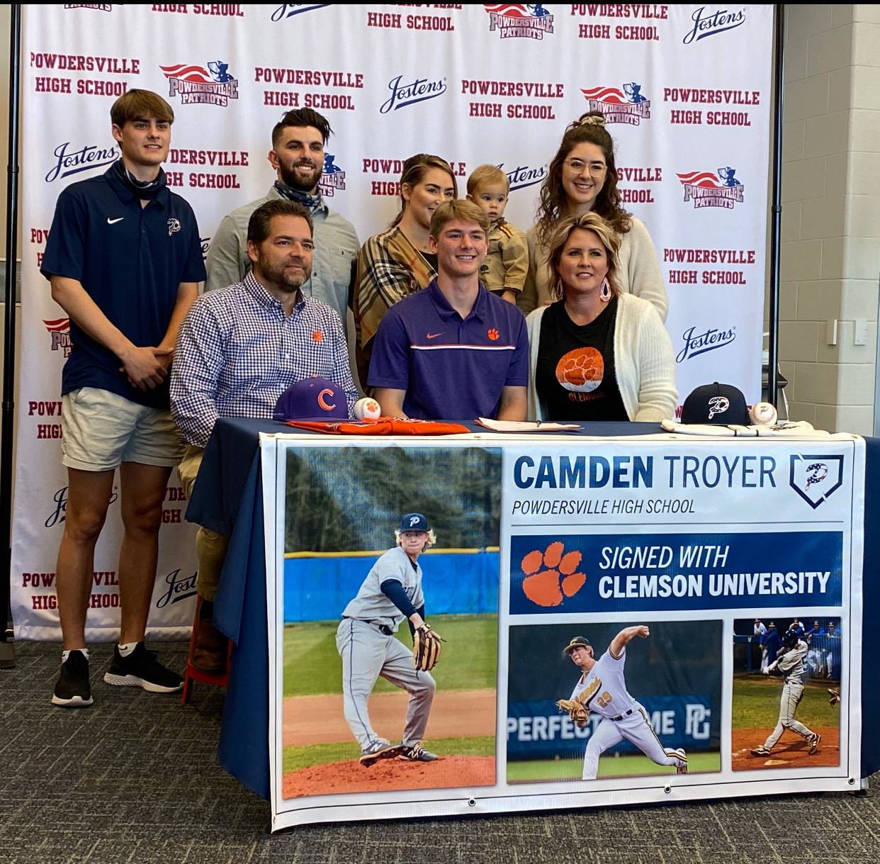 Congratulations Camden Troyer on Signing with Clemson!