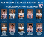 Congratulations to our AAA Region 2 2020 All Region Team Members!