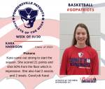 Patriots announces Girls Basketball Athlete of the Week 11/30