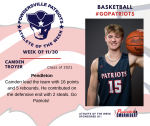 Patriots announces Boys Basketball Athlete of the Week 11/30