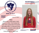 Patriots announce Girl's Basketball Athlete of the Week 12/7