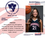 Patriots announce Athlete of the Week for Girls Basketball for January 4th