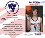 Patriots announce Athlete of the Week for Boys Basketball for January 11th
