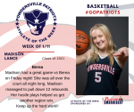 Patriots announce Athlete of the Week for Girls Basketball for January 11th