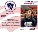 Patriots Wrestling announce Athlete of the Week for January 29th