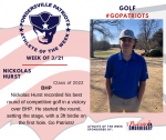 Patriots Golf announces Athlete of the Week
