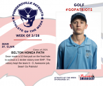 Patriots Golf announces Athlete of the Week for 03/28