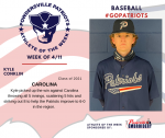 Patriots Baseball announces Athlete of the Week for 4-11