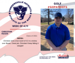 Patriots Golf announces Athlete of the Week for 4-11