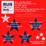 SIGN UP OPEN: Run Patriot Run or walk 5K and Fun Run Saturday, May 8th