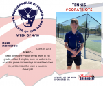Patriots Tennis announces Athlete of the Week for 4/18