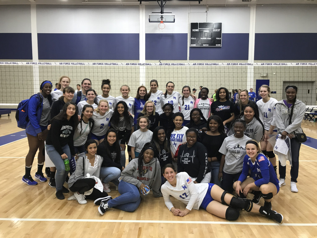 HHS Volleyball Visits Air Force Academy