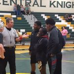 Columbia High School Boys Varsity Wrestling Splits at North Central