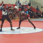 Columbia High School Boys Varsity Wrestling falls to Blythewood High School 42-33