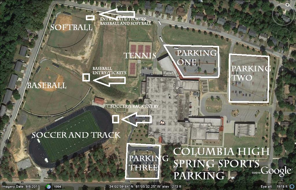 Spring Sports Parking Information